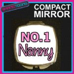 NUMBER ONE 1 NAN NANNY COMPACT LADIES METAL HANDBAG GIFT MIRROR